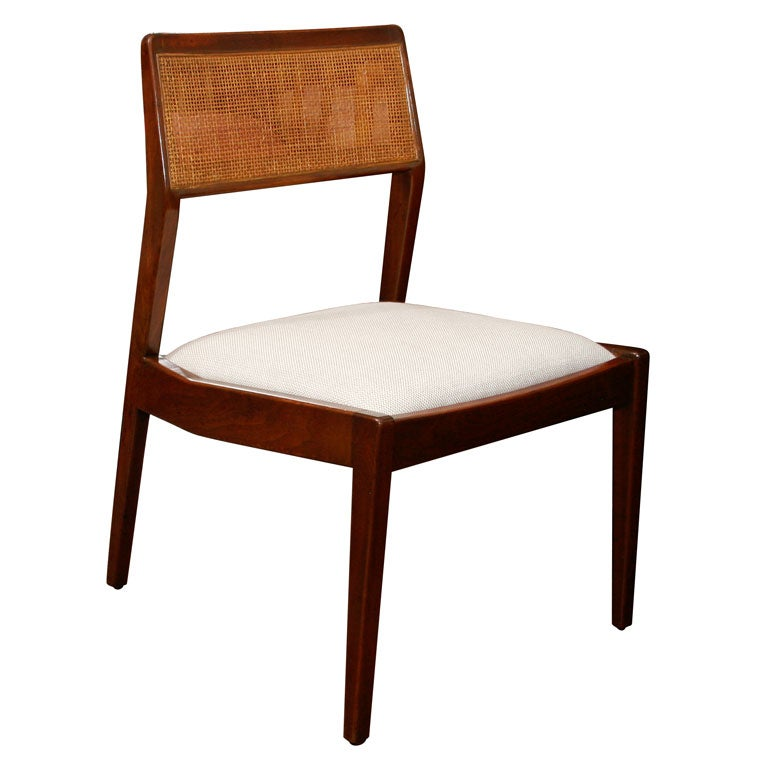 Set of 6 jens risom dining chairs with caned backs at 1stdibs - Jens risom dining chairs ...