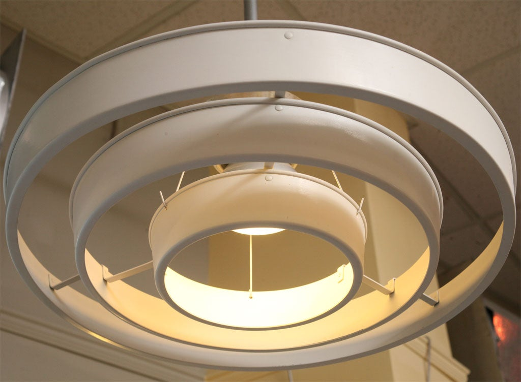 50s Floating 3 Ring Light Fixtures At 1stdibs