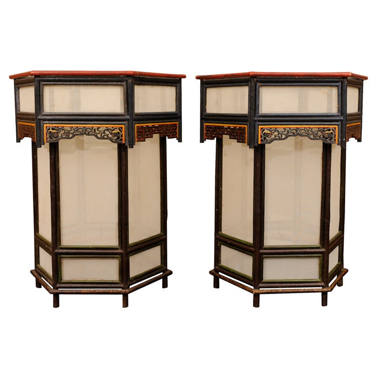 A Classic Pair Of Asian Lanterns At 1stdibs