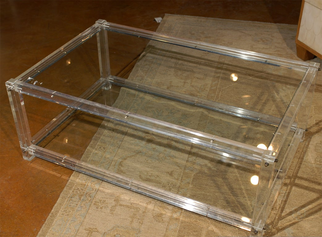 Vintage Lucite Coffee Table at 1stdibs