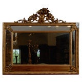 19th Century Italian Giltwood Mirror with Mirrored Panels