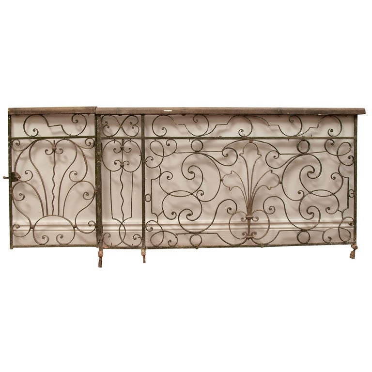Finely Wrought Iron French Railing at 1stdibs
