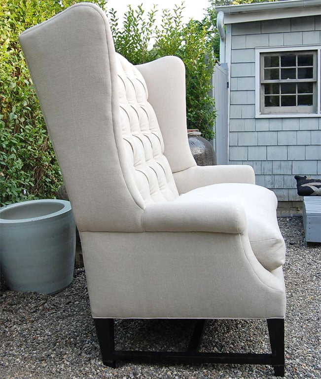 Wing Back Sofa In Excellent Condition For Sale In East Hampton, NY