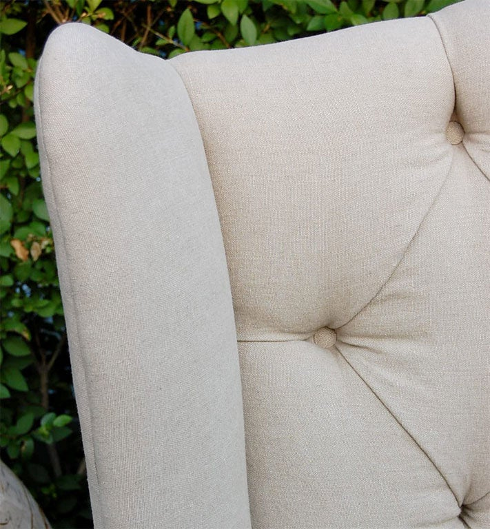 Contemporary Wing Back Sofa For Sale