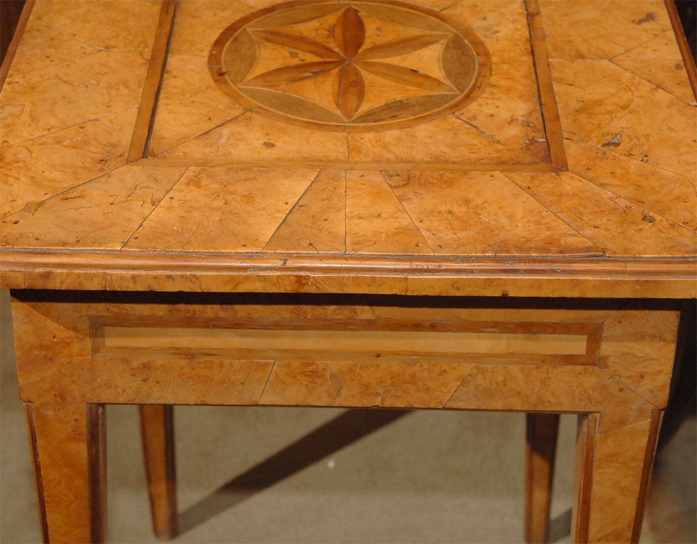 Parquetry table with secret compartment at 1stdibs for Furniture w hidden compartments