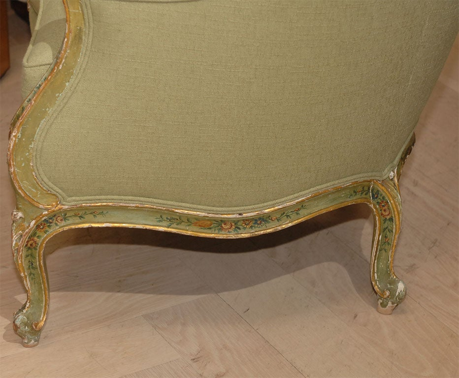 19th Century Painted and Gilt Bergere For Sale