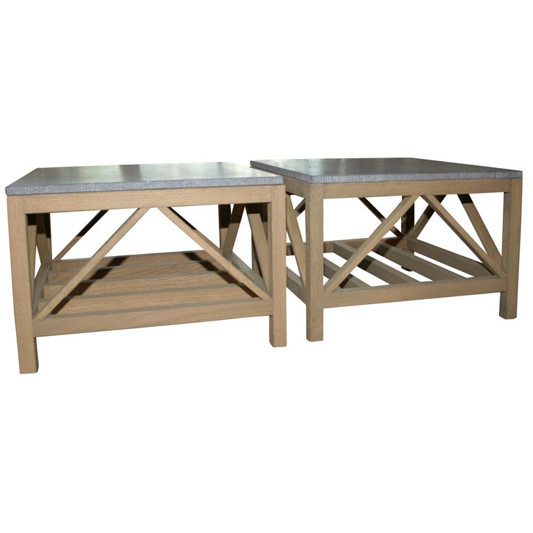 Coffee Table With Bluestone Top: Bluestone And Oak Coffee Table At 1stdibs