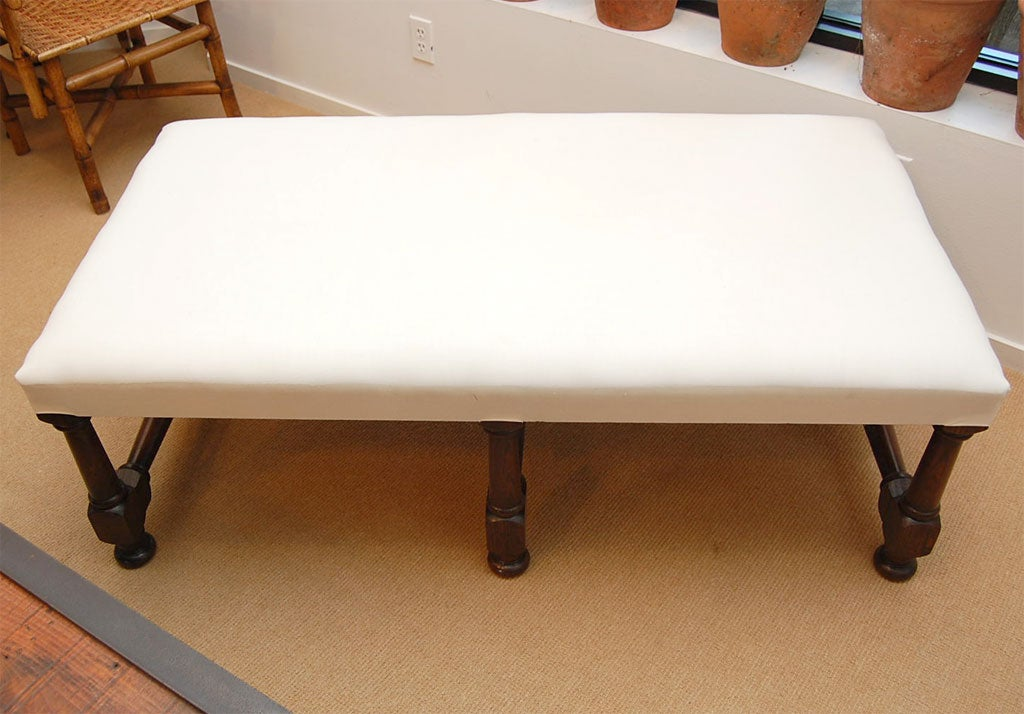 Upholstered Coffee Table With Gun Barrel Legs At 1stdibs
