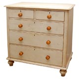 Early 19th Century Chest - Original Cream Paint