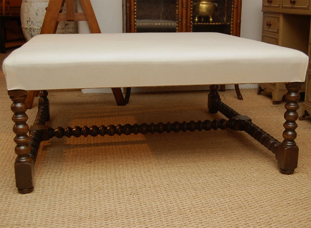 Large Square Upholstered Coffee Table At 1stdibs