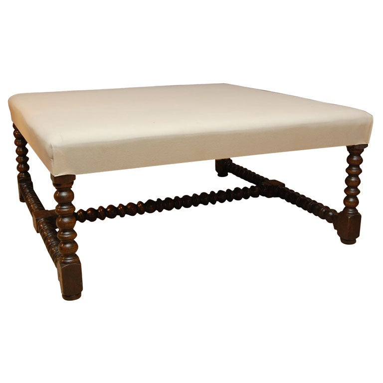 Large Square Upholstered Coffee Table For