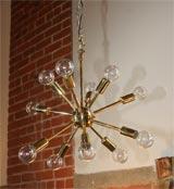 Brass Sputnick Chandelier image 2