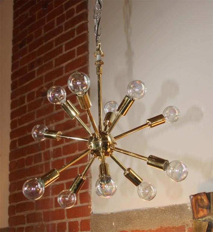 Brass Sputnick Chandelier 2