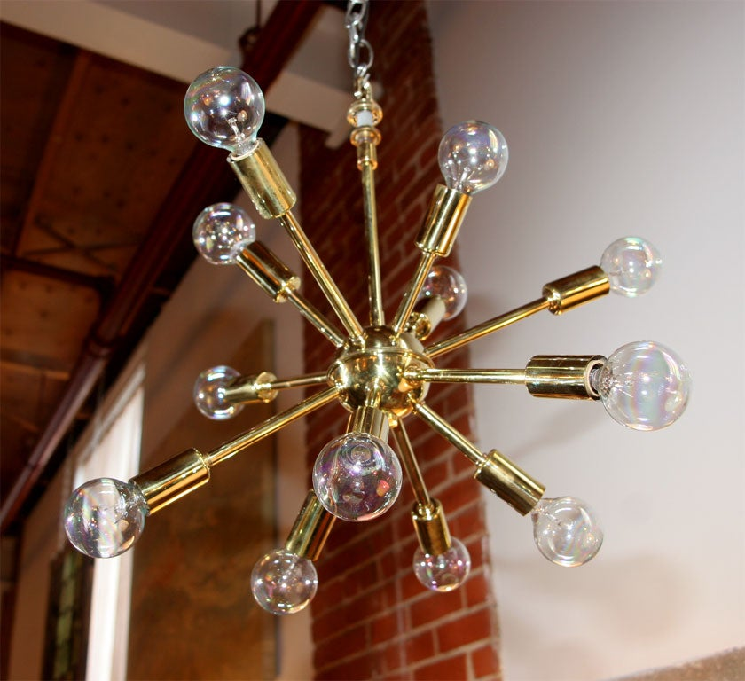Brass Sputnick Chandelier 3