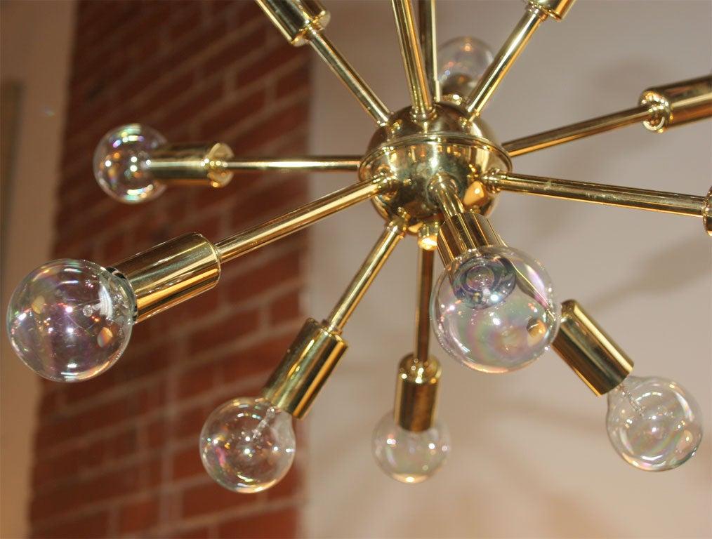 Brass Sputnick Chandelier 4