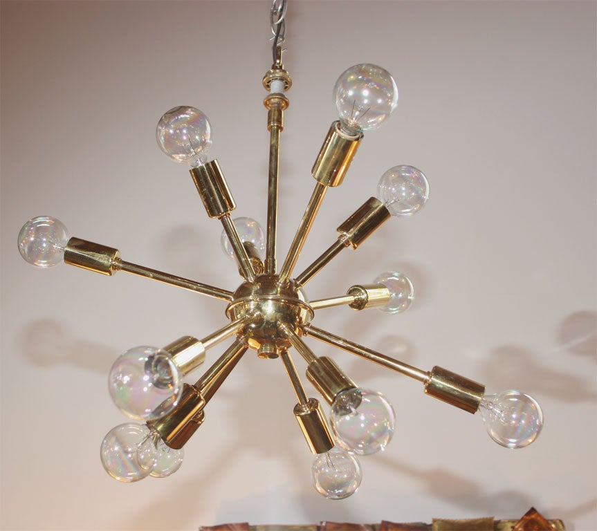 Brass Sputnick Chandelier 5