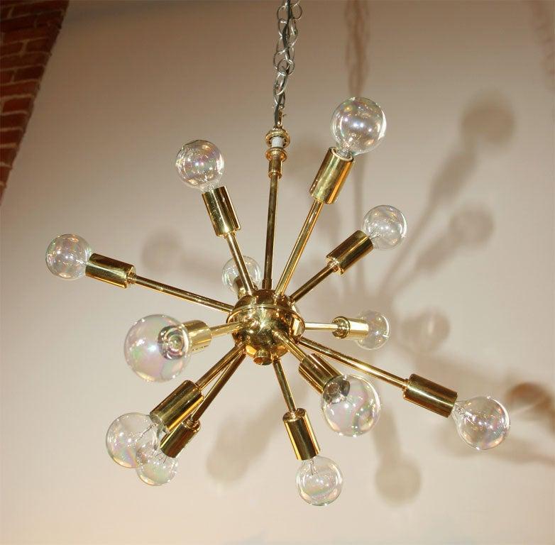 Brass Sputnick Chandelier 6