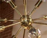 Brass Sputnick Chandelier image 7
