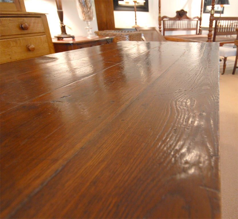Large 8 foot long wood dining table at 1stdibs for 8ft dining room table
