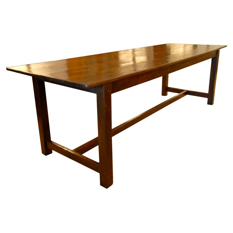 Large 8 Foot Long Wood Dining Table At 1stdibs
