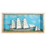 A Diorama of Ship at Sea, Circa 1860