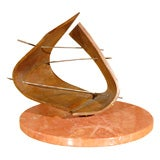 1960s Bronze Sculpture on Marble Base