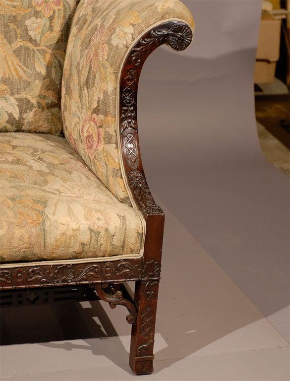 Chippendale Style Mahogany Camelback Sofa Ca. 1890 At 1stdibs