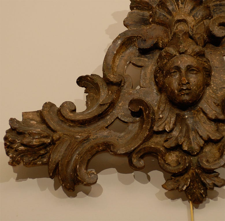 Pair of 18th century Italian Silvered Wood Carvings, ca. 1760 In Good Condition For Sale In Atlanta, GA
