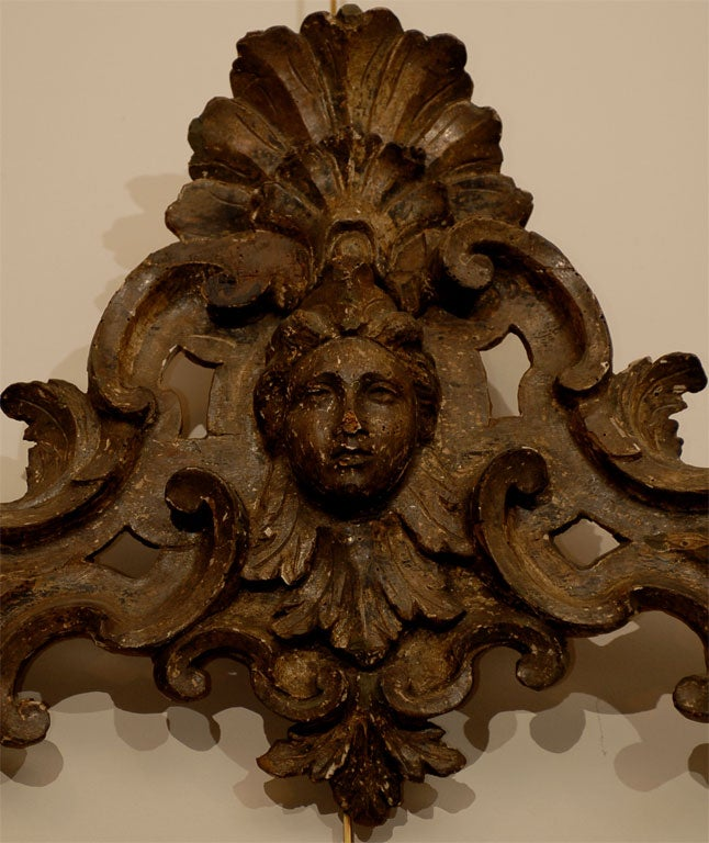 Pair of 18th century Italian Silvered Wood Carvings, ca. 1760 For Sale 1