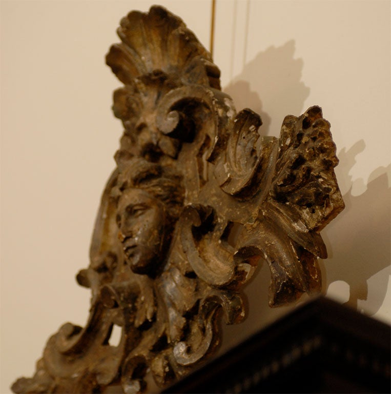 Pair of 18th century Italian Silvered Wood Carvings, ca. 1760 For Sale 2