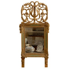 Early 19th Century Restoration Painted and Parcel Gilt Mirror, France ca. 1830