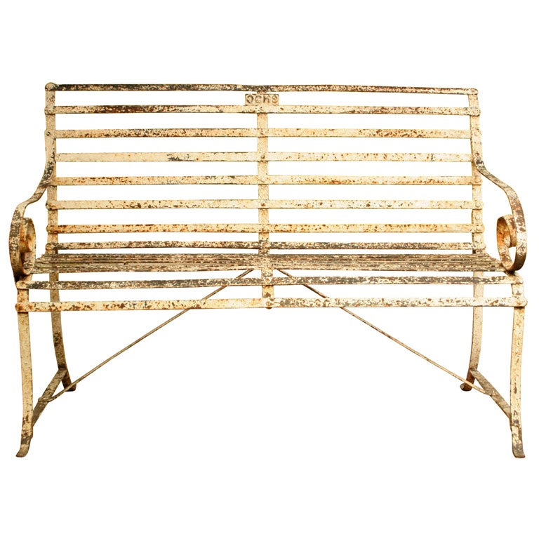 Classic Wrought Iron Garden Bench