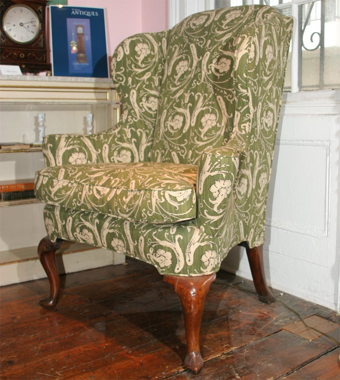 Queen Anne antique walnut wing chair c 1710 at 1stdibs