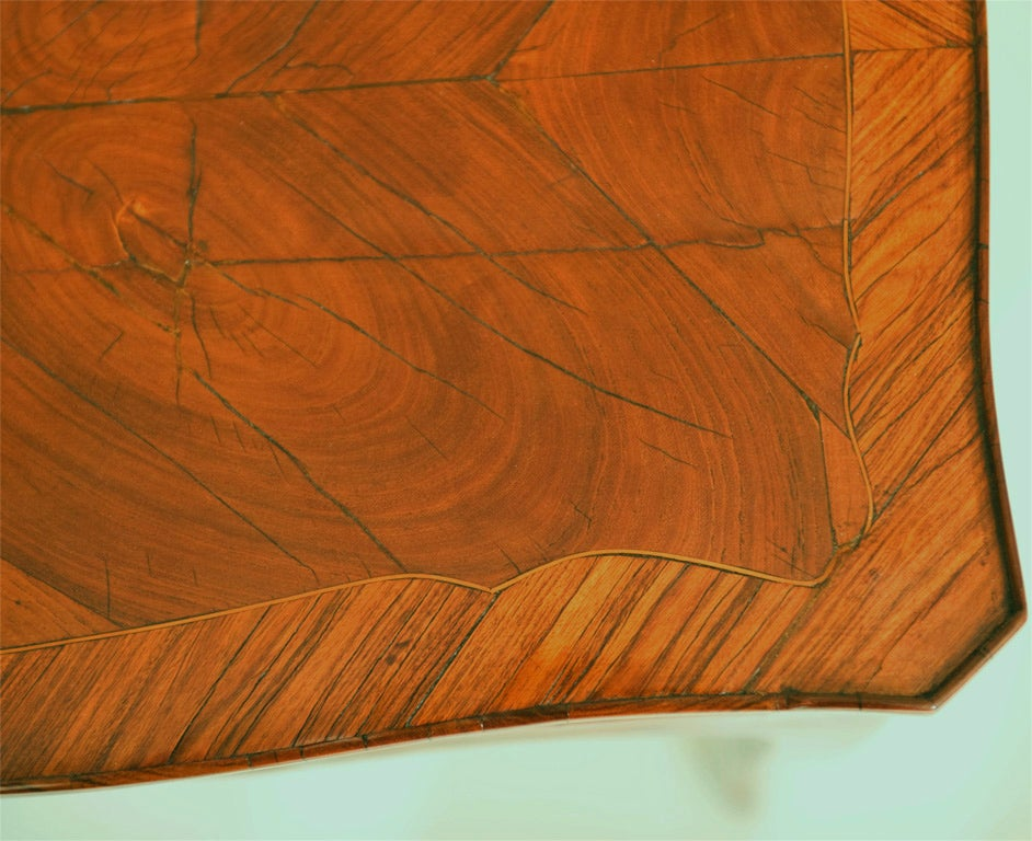 French Tulipwood Side Table For Sale