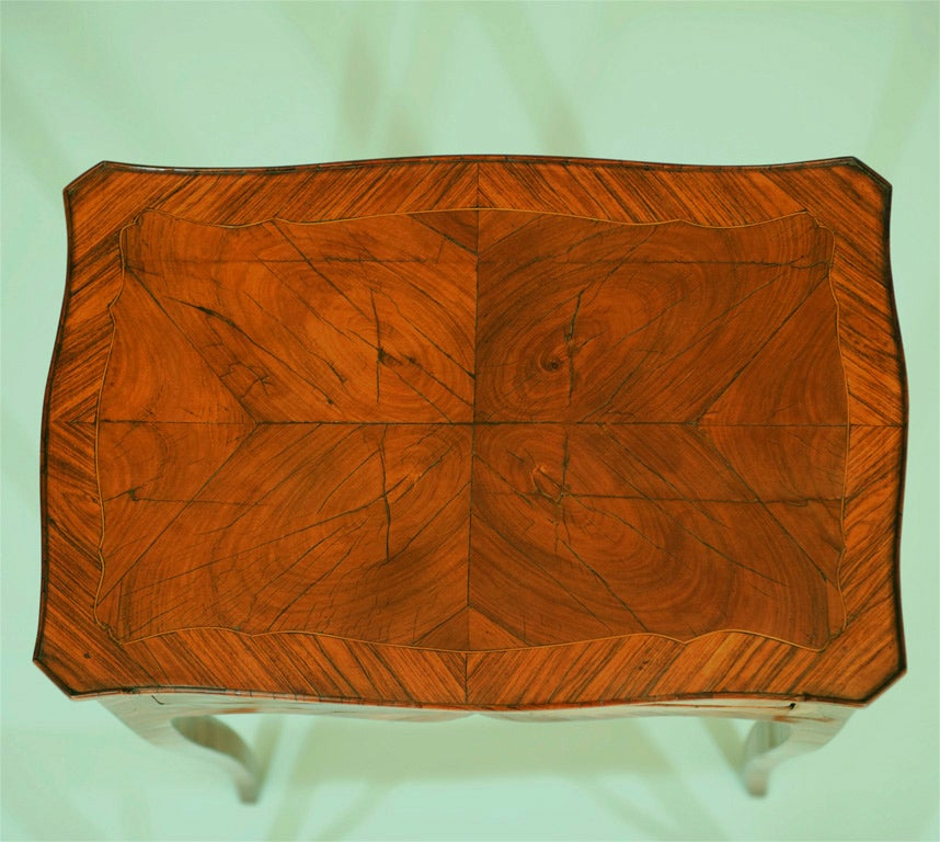 Tulipwood Side Table In Excellent Condition For Sale In Mississauga, ON