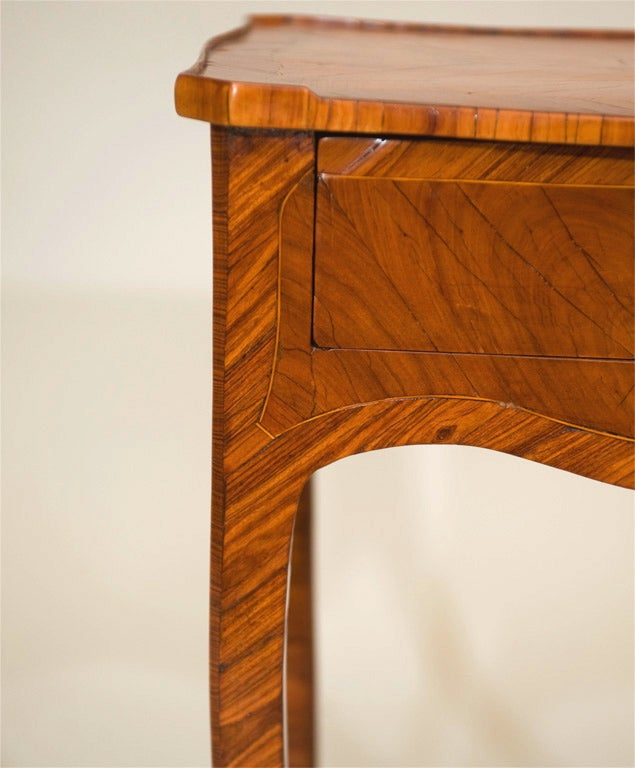 18th Century and Earlier Tulipwood Side Table For Sale