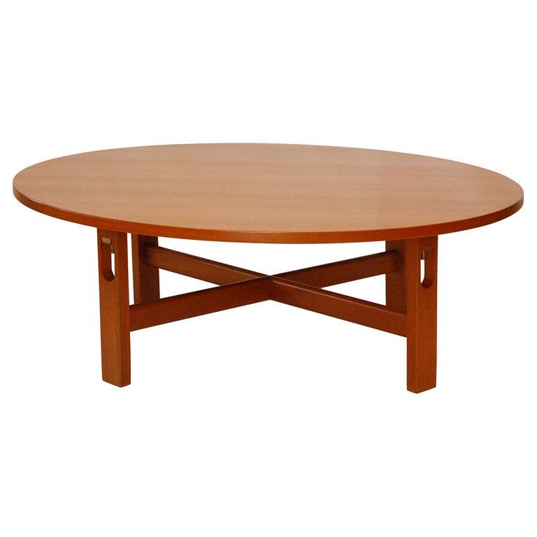 Hans Wegner Round Coffee Table At 1stdibs