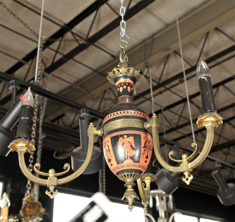 18th Century and Earlier Neo-classical Greek Revival Chandelier For Sale