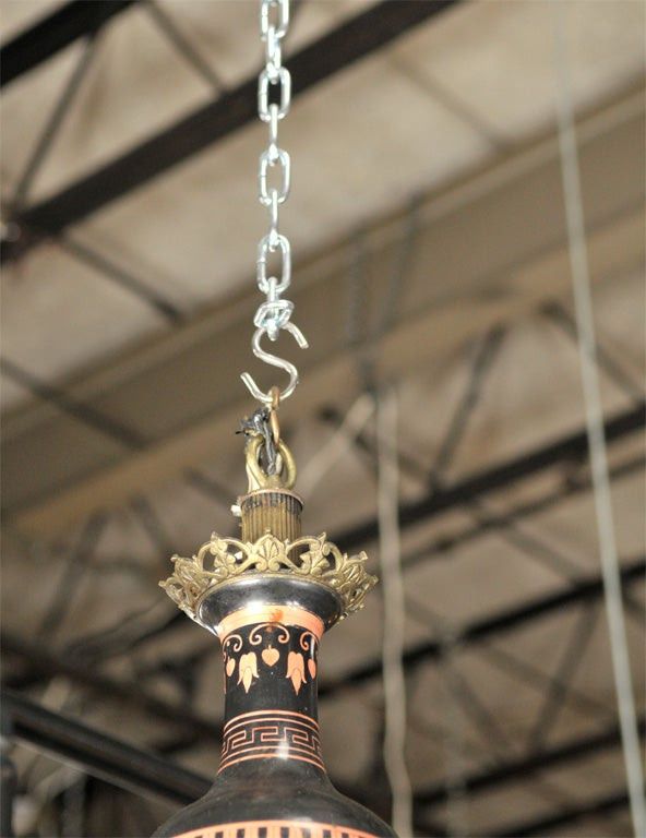 Neo-classical Greek Revival Chandelier For Sale 2