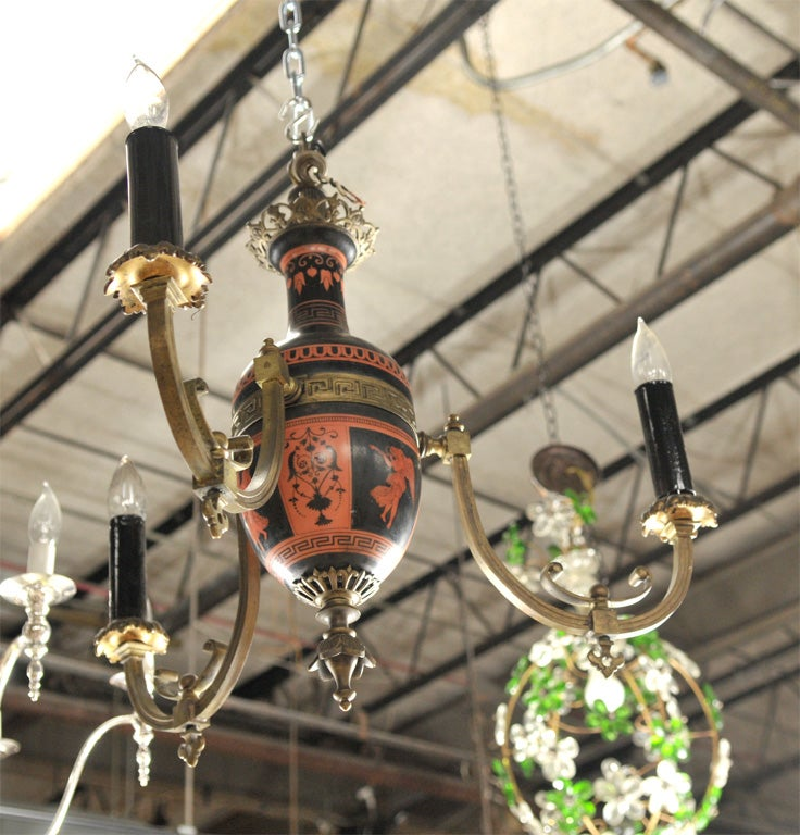 Neo-classical Greek Revival Chandelier For Sale 5