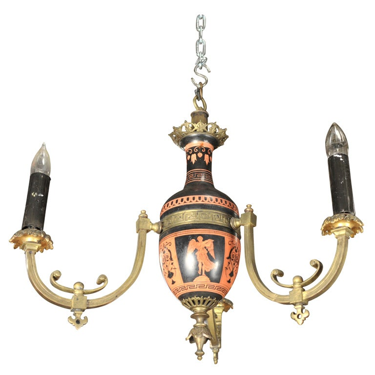 Neo-classical Greek Revival Chandelier