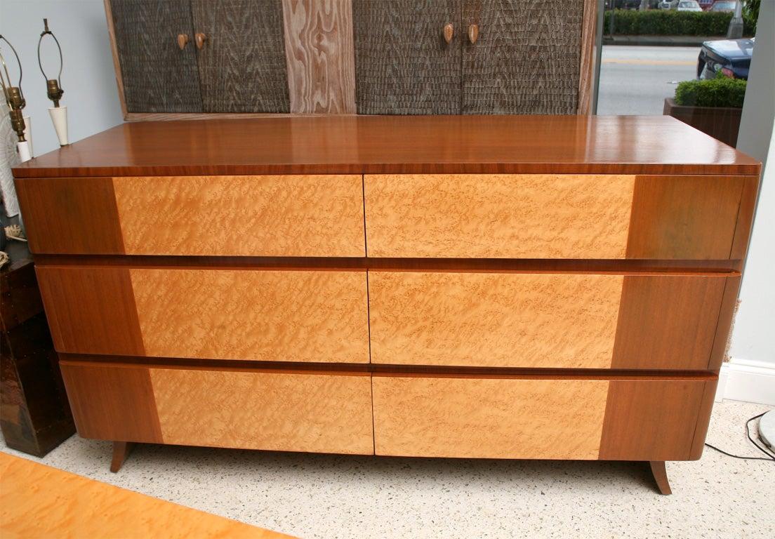 A Pair Of Eliel Saarinen 6 Drawer Commodes By RWay Furniture 2