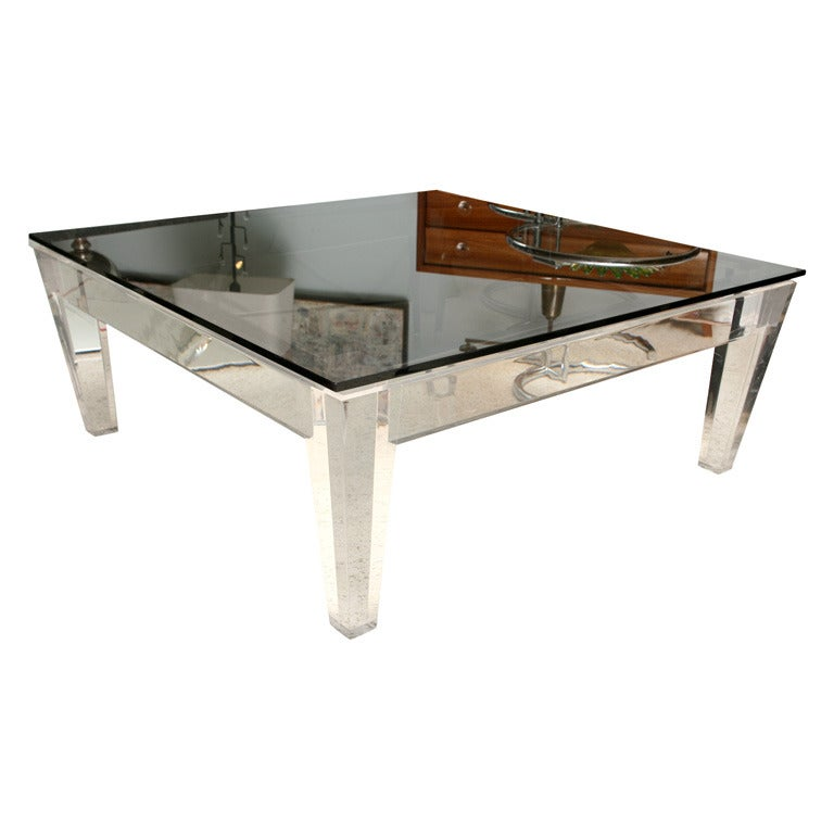A Fine Lucite And Smoked Glass Low Table At 1stdibs