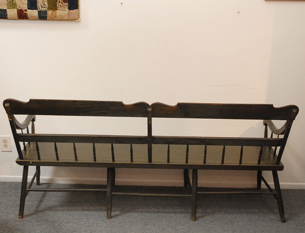 19thc Original Painted Settle Bench From Pennsylvania At 1stdibs