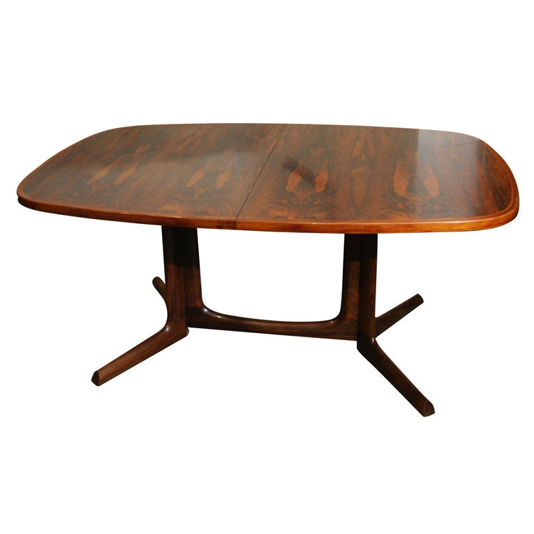Rosewood Oval Dining Table with Floor Rail by Skovby at  : xIMG4184 from 1stdibs.com size 768 x 768 jpeg 31kB