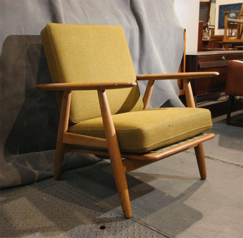 Oak Cigar Arm Lounge Chair By Hans Wegner At 1stdibs