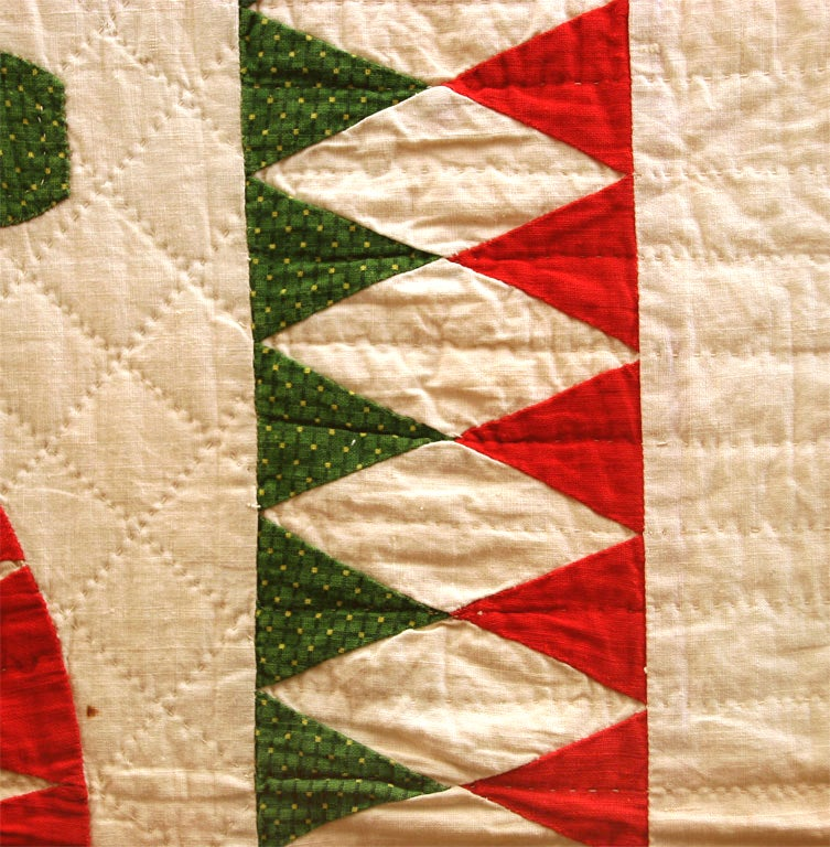 Antique Quilt:  Sunburst Variation. For Sale 1