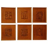 Collection of  French Carved Bas Reliefs