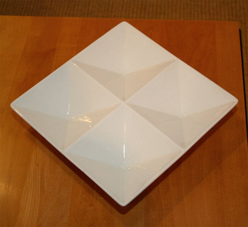 Mid-20th Century Origami Form Ceramic Tray by Kaj Franck for Arabia For Sale