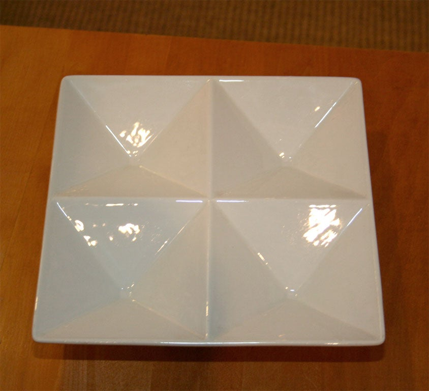 Origami Form Ceramic Tray by Kaj Franck for Arabia For Sale 1